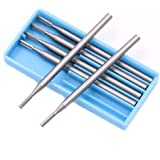 TOOGOO 6Pcs Tungsten Steel Burr Drill Bits Grinder Rotary Tools For Diy Woodworking Engraving Knife End Mill Router Bit-0.6mm