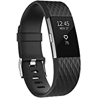 Vancle バンド for Fitbit Charge 2, 経典の版 柔軟でスポーツ仕様 多色選択 交換ベルト for Fitbit Charge 2 (機械がない)