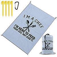 私はゲーマーです レジャー旅行シートピクニックマット防水145×200センチ折りたたみキャンプマット毛布オーニングテントライトと収納が簡単ポータブル巾着