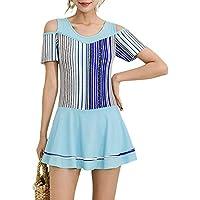 RONSHIN Bikini for Women Fashion Stripes Printing Dress Briefs Swimwear