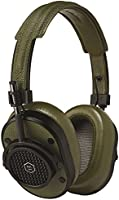 Master & Dynamic MH40 Greene St Edition Over-Ear, Wired Headphones with Genuine Lambskin Ear Pads, Black/Olive