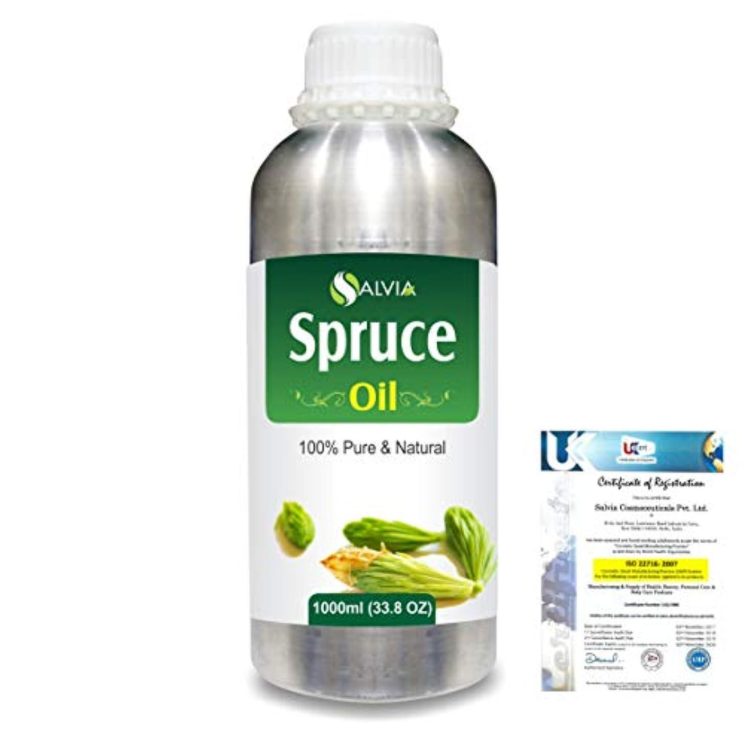 ピアとまり木刻むSpruce (Tsuga Canadensis) 100% Natural Pure Essential Oil 1000ml/33.8fl.oz.