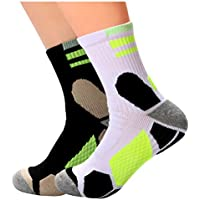 Athletic Socks for Women and Men Sweat Wicking Anti Smell for Hiking & Running