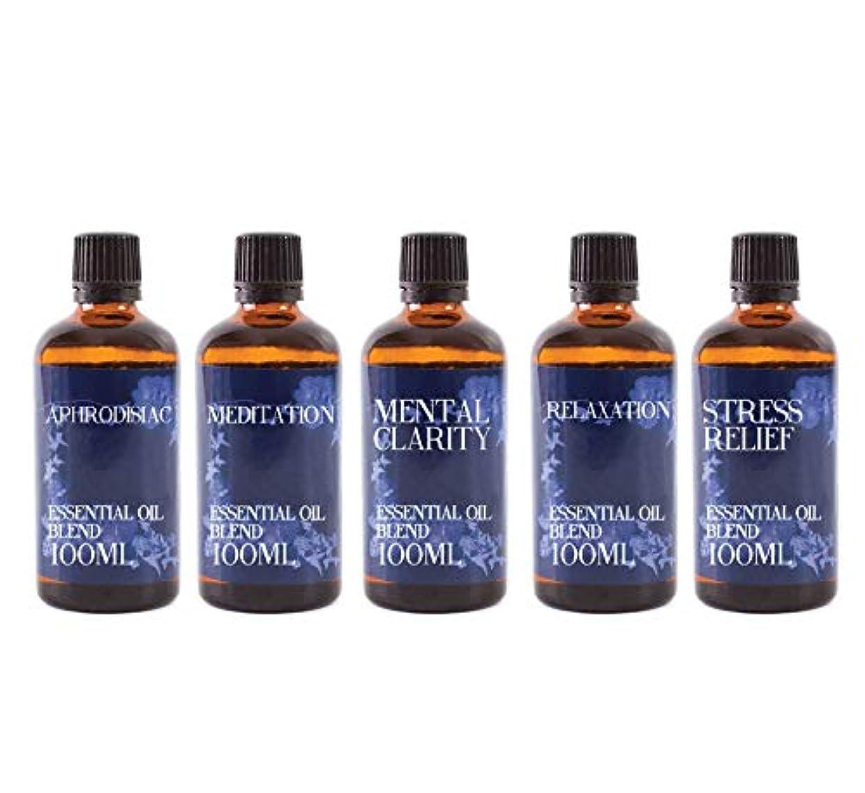 優しい適応一人でMystix London | Gift Starter Pack of 5 x 100ml - Modern Day Remedies - Essential Oil Blends