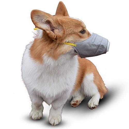 Apetian 3枚入 ワンちゃんマスク ペット用防塵マスク フィルター付き 花粉やPM2.5からペットを守る 無駄吠え防止 (M)