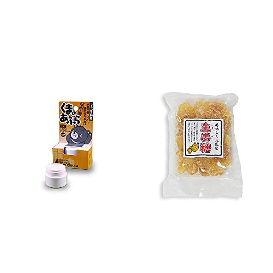 勧める幹プット[2点セット] 信州木曽 くまのあぶら 熊油スキン&リップクリーム(9g)?生姜糖(230g)