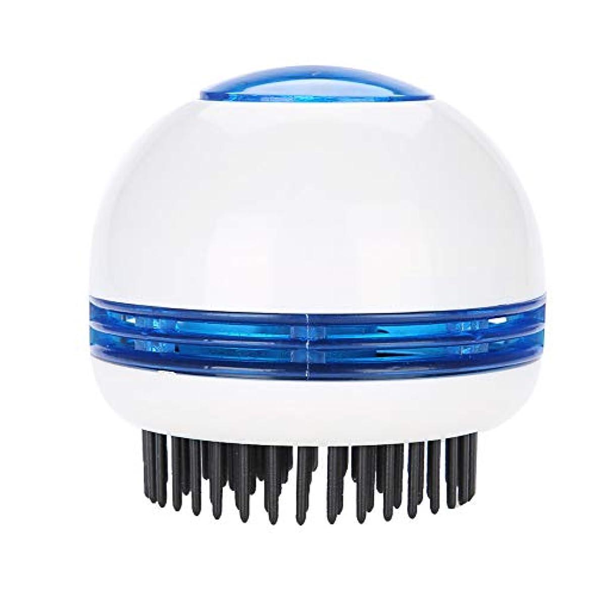 縁石姿を消す知覚するヘッドマッサージャー、電気式 頭皮マッサージ シャンプーブラシ防水 静電防止櫛毛髪の成長