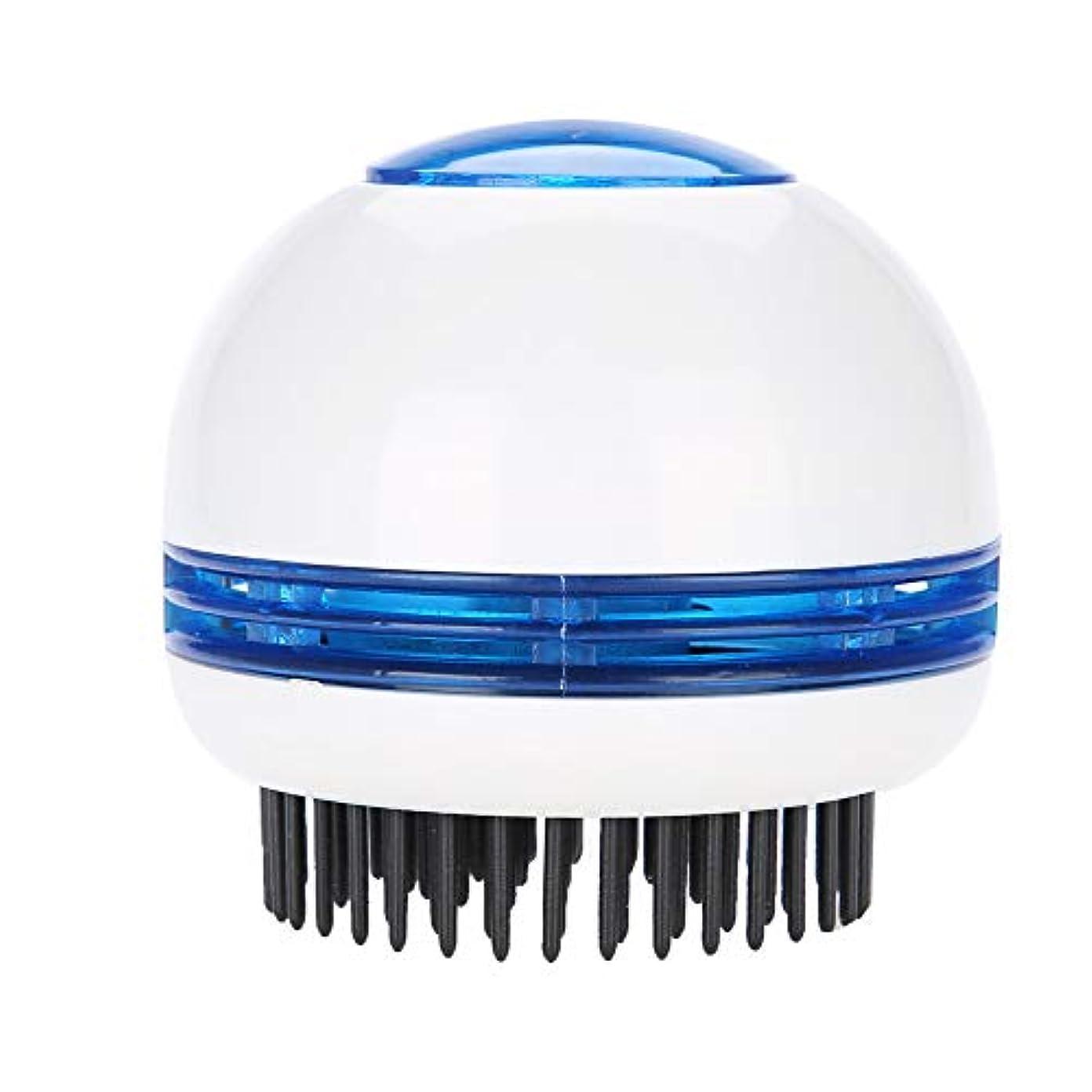 持ってるつぼみゴミ箱を空にするヘッドマッサージャー、電気式 頭皮マッサージ シャンプーブラシ防水 静電防止櫛毛髪の成長