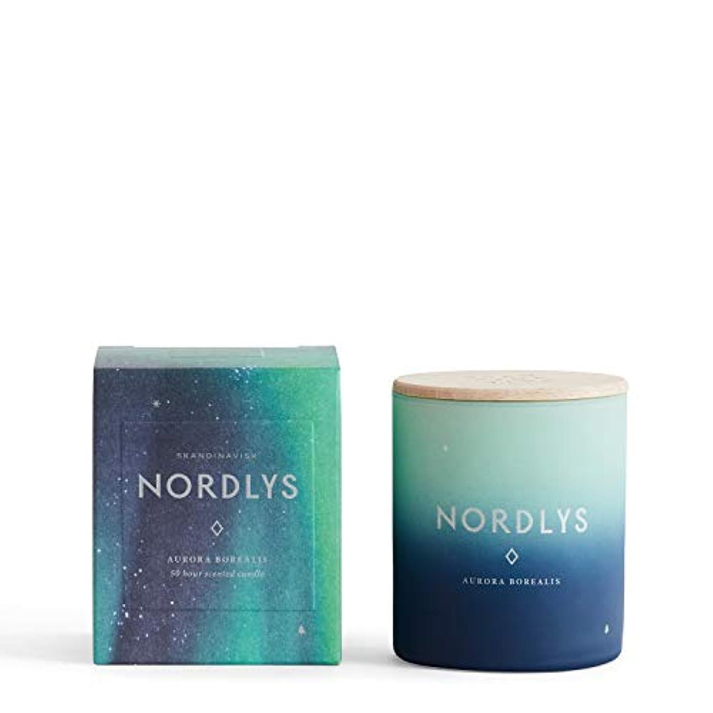 冷蔵する虚偽溢れんばかりのSKANDINAVISK センテッドキャンドル NORDLYS (NORTHERN LIGHT) 190g