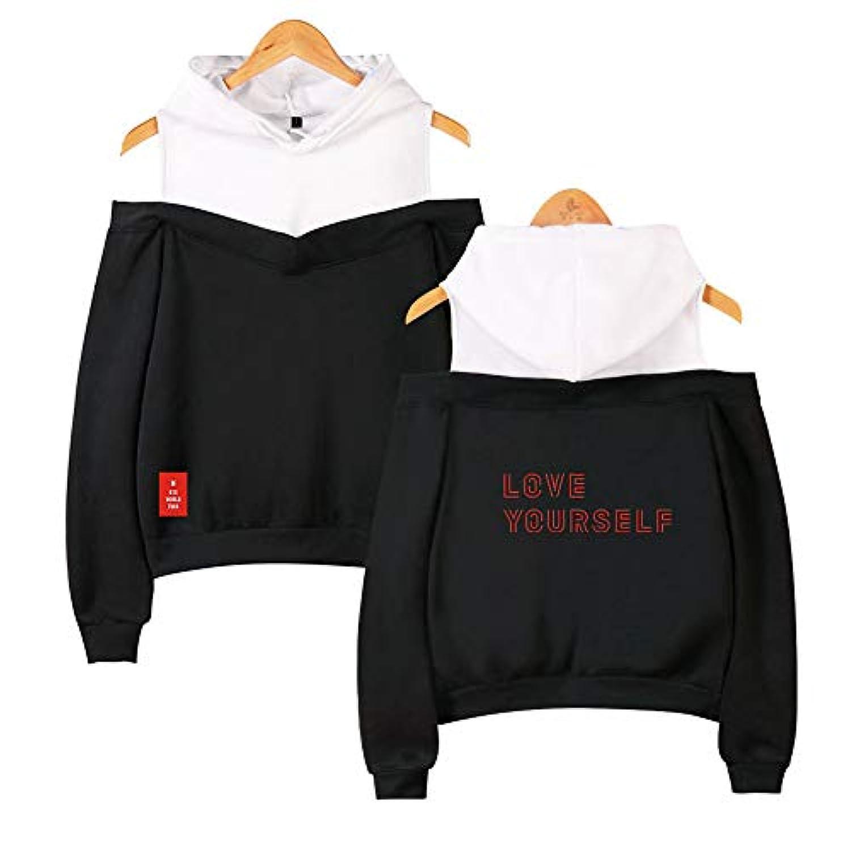 Kpop BTS Strapless shoulder Jacket Pullover Bangtan Boys Fake 2 pieces Sweatshirt JIN SUGA Jimin V JUNG KOOK Hoodies