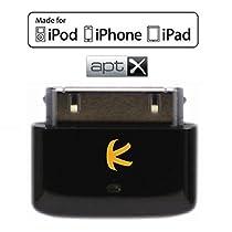 KOKKIA i10s+aptX (black) 本物のApple公認iPod/iPhone/iPad 用小型Bluetooth iPodトランスミッター、aptX Bluetoothヘッドセット/レシーバー/スピーカーの音声遅延を低減。(豪華なブラック)