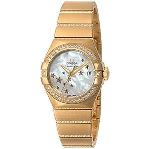 [オメガ]OMEGA 腕時計 Constellation ホワイトパール文字盤 コーアクシャル自動巻き ダイヤモンド 123.55.27.20.05.002 レディース 【並行輸入品】