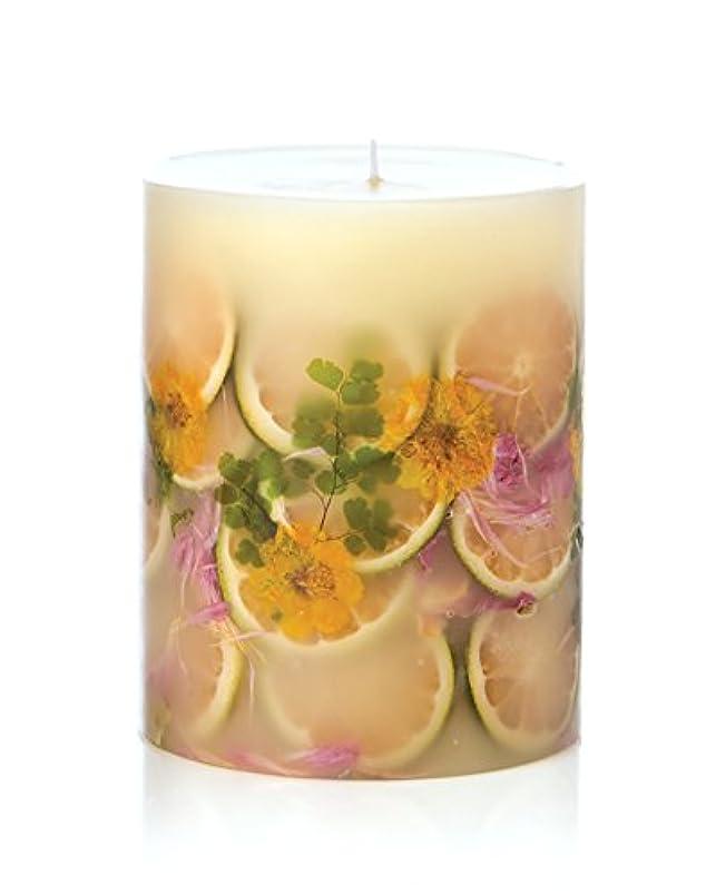 ぐるぐる建築家レバーロージーリングス ボタニカルキャンドル ラウンド レモンブロッサム&ライチ ROSY RINGS Round Botanical Candle Round – Lemon Blossom & Lychee