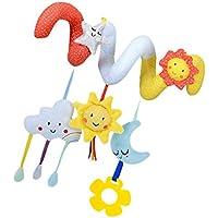 fityle Crib Cot PramスパイラルHangingおもちゃソフトDevelopmental BabyモバイルおもちゃSun Star