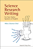 Science Research Writing For Non-native Speakers Of English…