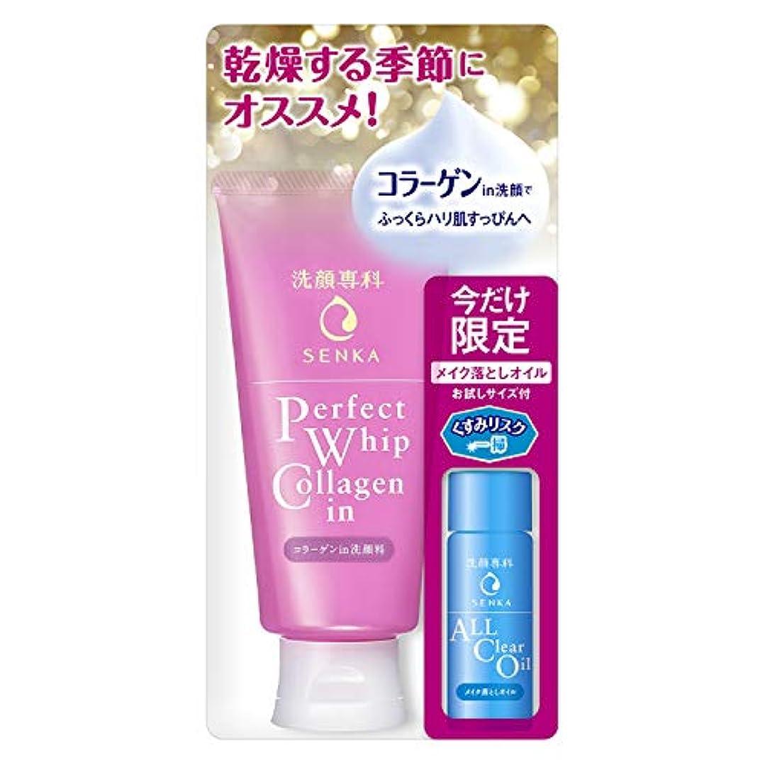 シダエクスタシー収容する洗顔専科 パーフェクトホイップ コラーゲンin オールクリアオイル特製サイズ付き