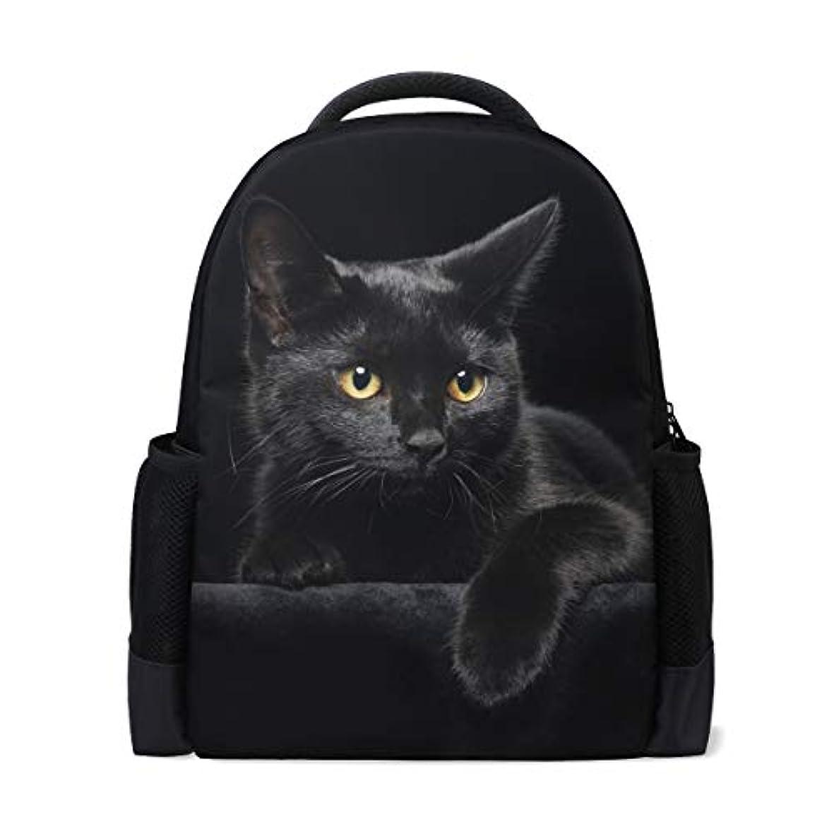 メイド克服する誓いSAMAU リュック おしゃれ リュックサック 軽量 大容量 黒猫 猫柄 通学 通勤 旅行 プレゼント対応