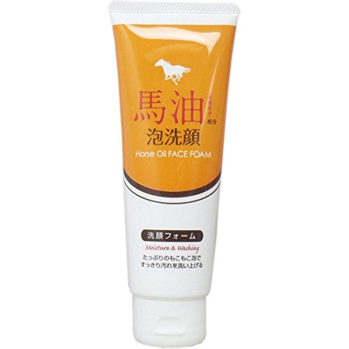マークダウンストレスの多い空馬油配合泡洗顔 洗顔フォーム 130g