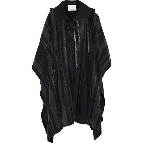 (スリーワン フィリップ リム) 3.1 Phillip Lim レディース アウター レザージャケット Leather-trimmed wool-blend hooded poncho [並行輸入品]