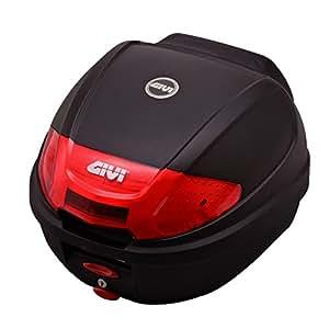 GIVI(ジビ) モノロックケース(トップケース) 未塗装ブラック 汎用ベース・バックレスト付属 E300N2 92665