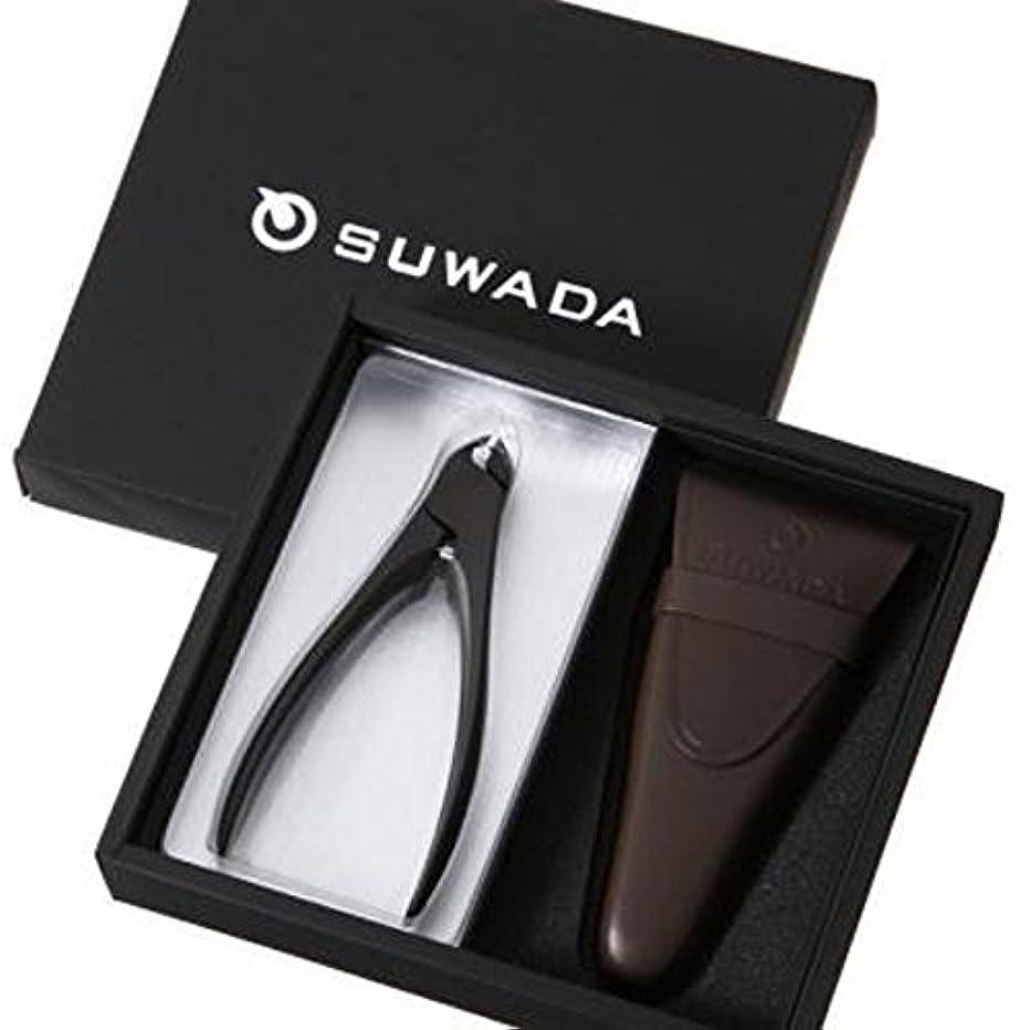 鷹中性抵抗するSUWADA スワダ つめ切り ギフトボックス CLASSIC 黒仕上げ(L) 革ケース付き (ギフト箱入りセット)