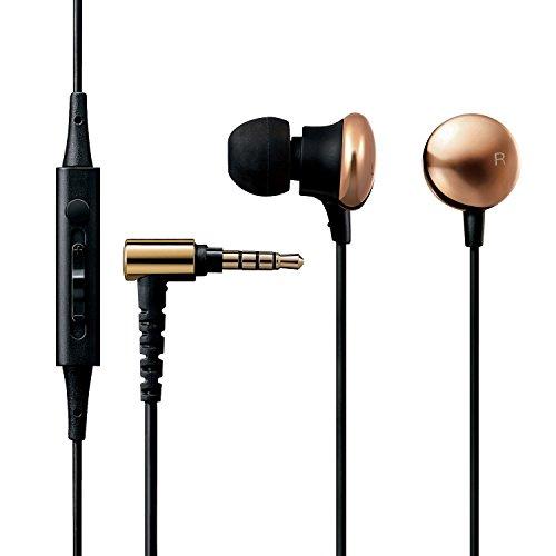 エレコム ハイレゾイヤホン マイク付 シンプルでかわいい装いから生まれる圧倒的な高音質 Colorsシリーズ ゴールド EHP-F/CC1000MGD