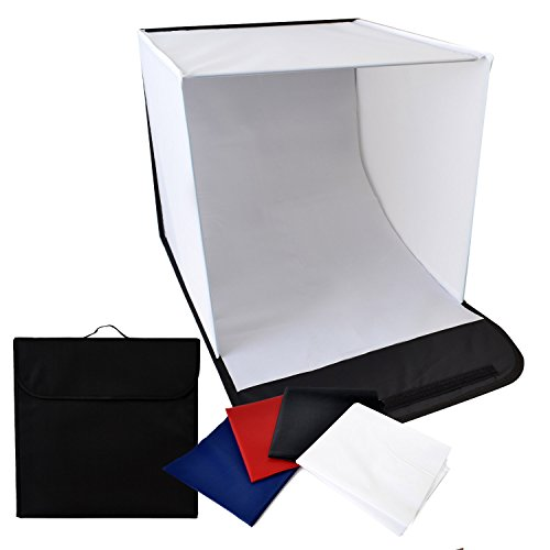 撮影ボックス 4バリエーション背景布付き 40×40×40 ...