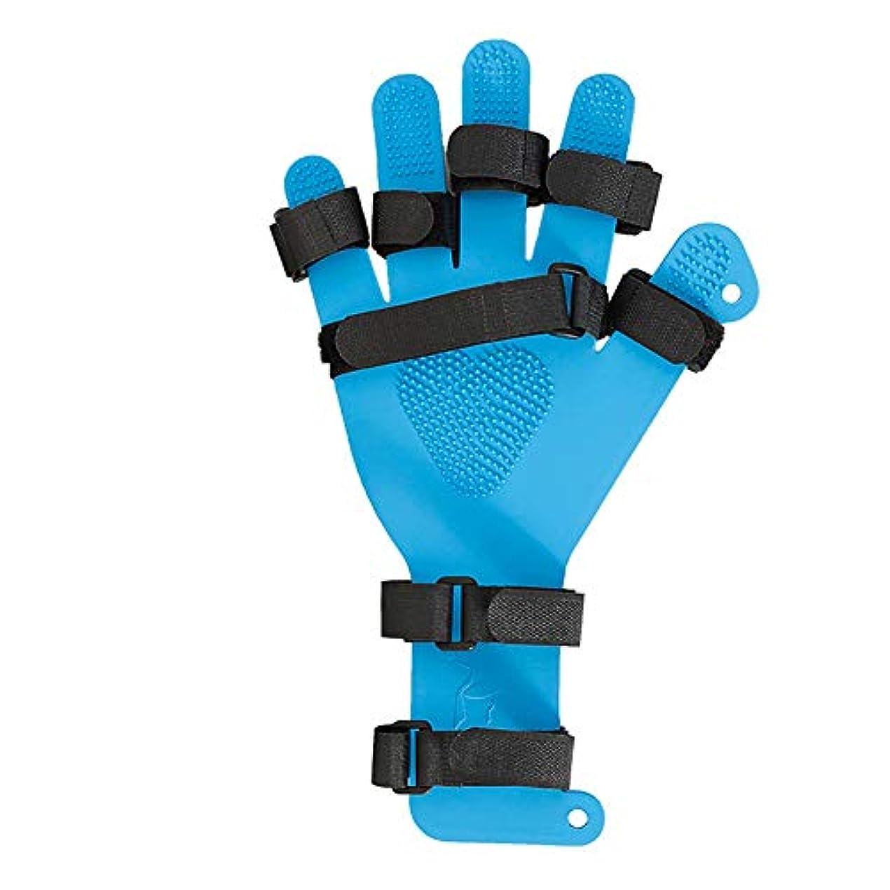 黒人デュアル誇張どちらの手のための手の手首のトレーニング装具調節可能指セパレーター拡張ボード - (Size : Child)