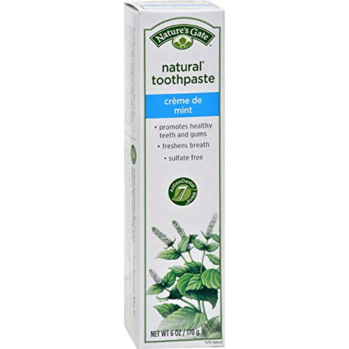十分な突破口船乗りNature's Gate, Natural Toothpaste, Creme de Mint, 6 oz (170 g)