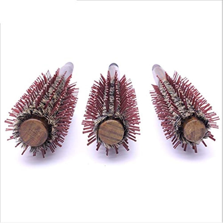 乗って登録する大胆な木のハンドルが付いている自然なイノシシの剛毛の円形のヘア?ブラシ、円形の櫛の直線11インチの長さ、毛の乾燥のためのスタイリングの基本、スタイリング モデリングツール (サイズ : L)