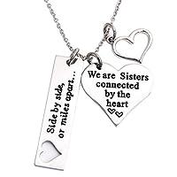 姉妹用ネックレス サイドバイサイド又はマイルズ・アパート We Are Sisters コネクト・バイ・ザ・ハート