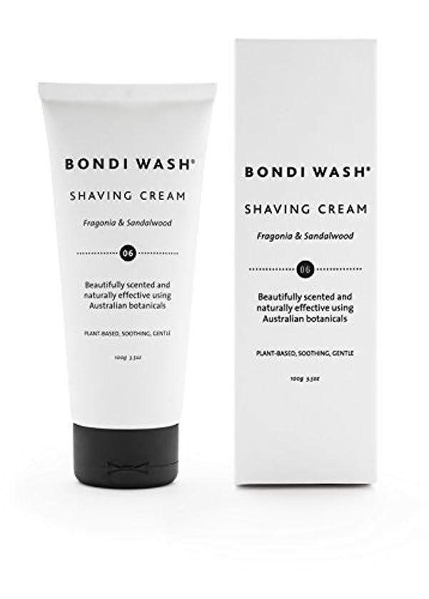 放射能してはいけません蒸留BONDI WASH シェイビングクリーム フラゴニア&サンダルウッド 100g