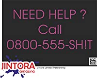 JINTORA ステッカー/カーステッカー - I need help to call 0800-555 - shit - 私は0800-555に電話するのに助けが必要です - たわごと - 210x98 mm - JDM/Die cut - 車/ウィンドウ/ラップトップ/ウィンドウ - バイオレット
