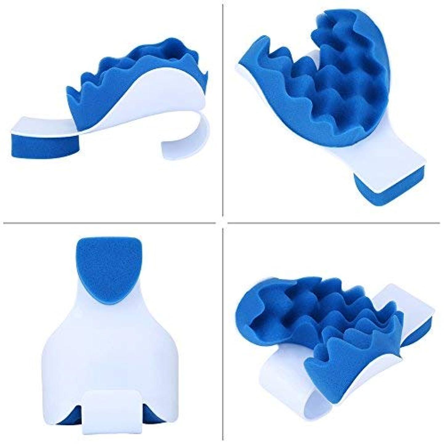 ネックピロー 高弾性スポンジピロー 首/肩疲労の解消 リラクス マッサージ 肩こり 首こり 改善 携帯枕 人間工学 小型 軽量 車載旅行 オフィス 自宅用