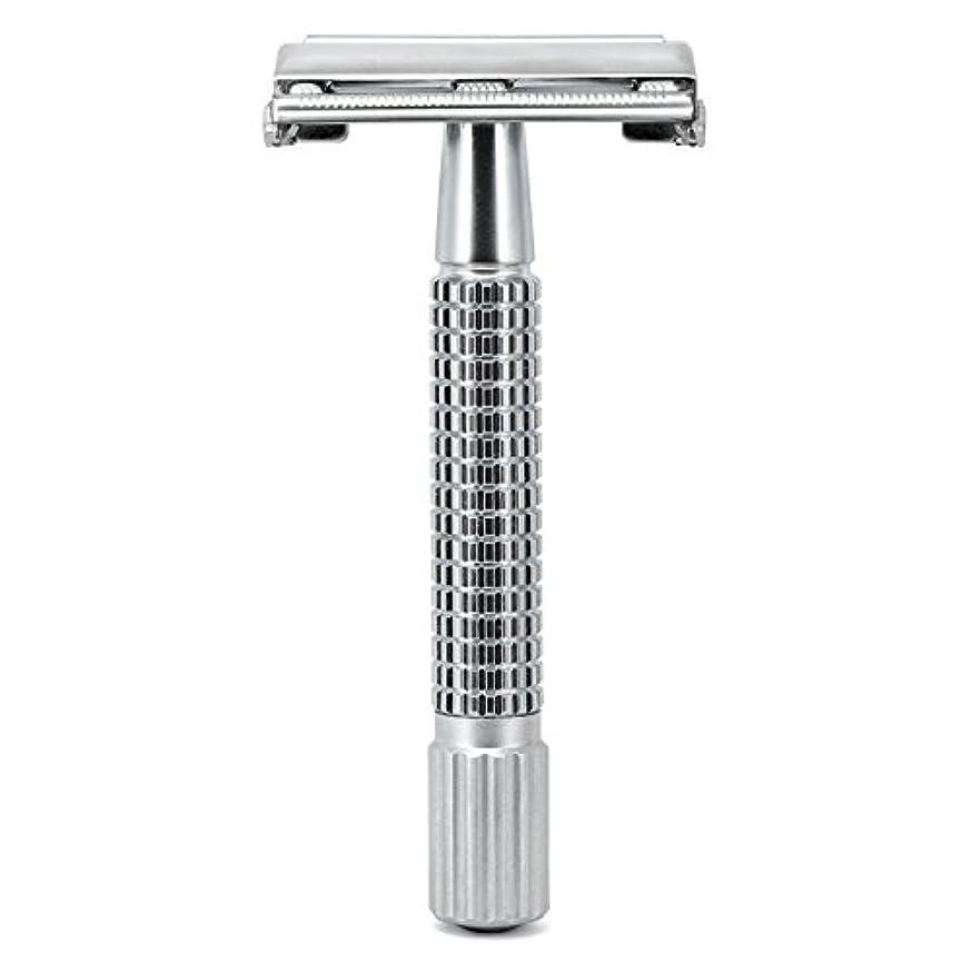 行動首尾一貫したうるさいG&F - Gentle Shaver Safety razor, Butterfly, matt chrome, 8 cm