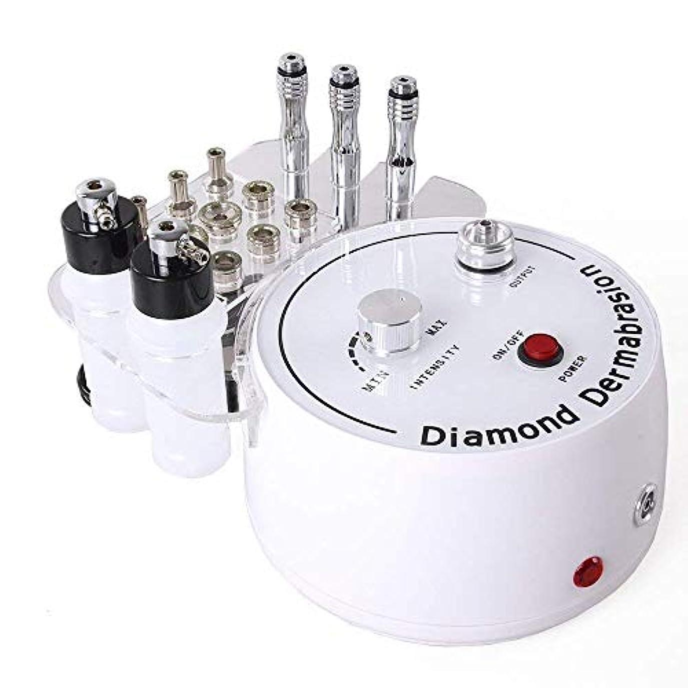 ロンドン地域引き受ける3 in 1ダイヤモンドマイクロダーマブレーションマシン、プロフェッショナルダイヤモンドダーマブレーションマシンパーソナルケア用のフェイシャルケアサロン機器、チップとワンド付き