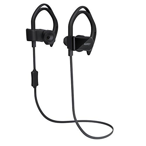 AUKEY Bluetooth イヤホン スポーツ仕様 万歩計、心拍数モニター搭載 iPhone、Android スマートフォンなど対応 EP-B30