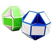Happyハッピー耳 ルービックキューブ 競技用パズルキューブ ルービックスネークばね魔 24節 異なる形 ポップ防止 回転スムーズ ストレス解消 知育玩具 (カラーランダム)