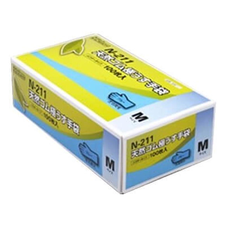 魅力ベール代替【ケース販売】 ダンロップ 天然ゴム極うす手袋 N-211 M ブルー (100枚入×20箱)