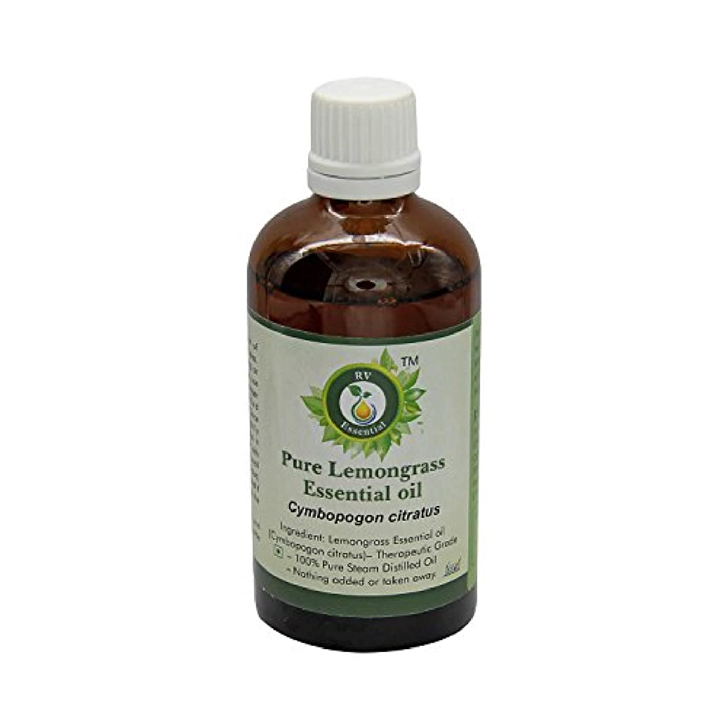 ペック彼自身全体にR V Essential ピュアレモングラスエッセンシャルオイル15ml (0.507oz)- Cymbopogon Citratus (100%純粋&天然スチームDistilled) Pure Lemongrass...