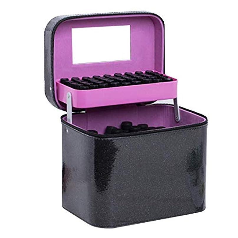 人道的ベンチャーイタリックCoinar エッセンシャルオイル収納ボックス キャンバス製 香水収納ケース アロマオイル収納ボックス オイルボトル収納ボックス アロマポーチ 大容量 携帯便利