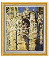 モネ ルーアン大聖堂 F20 油絵直筆仕上げ|絵画20号 887×766mm 複製画 ゴールド
