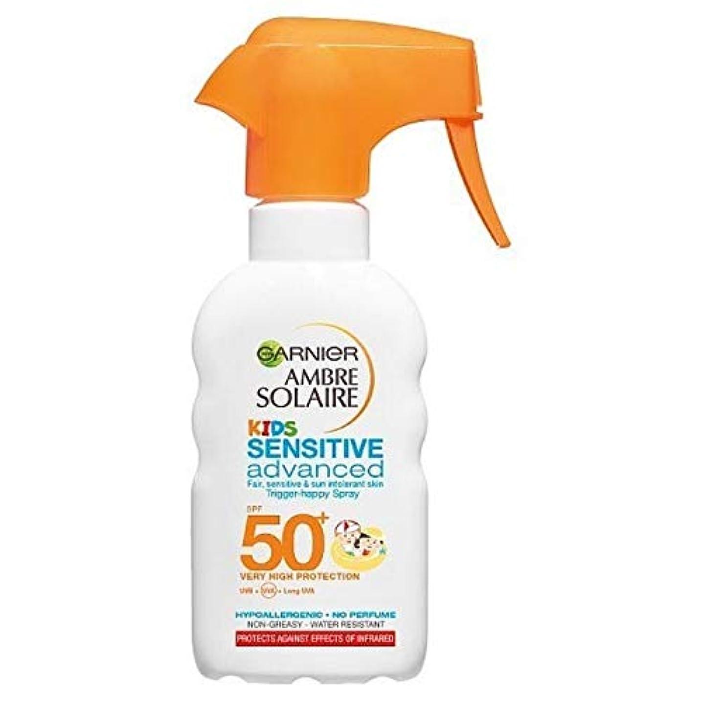 サイトライン船員クレデンシャル[Garnier ] アンブレSolaire子供の日クリームトリガースプレーSpf50 + 200ミリリットル - Ambre Solaire Kids Sun Cream Trigger Spray SPF50+ 200ml...