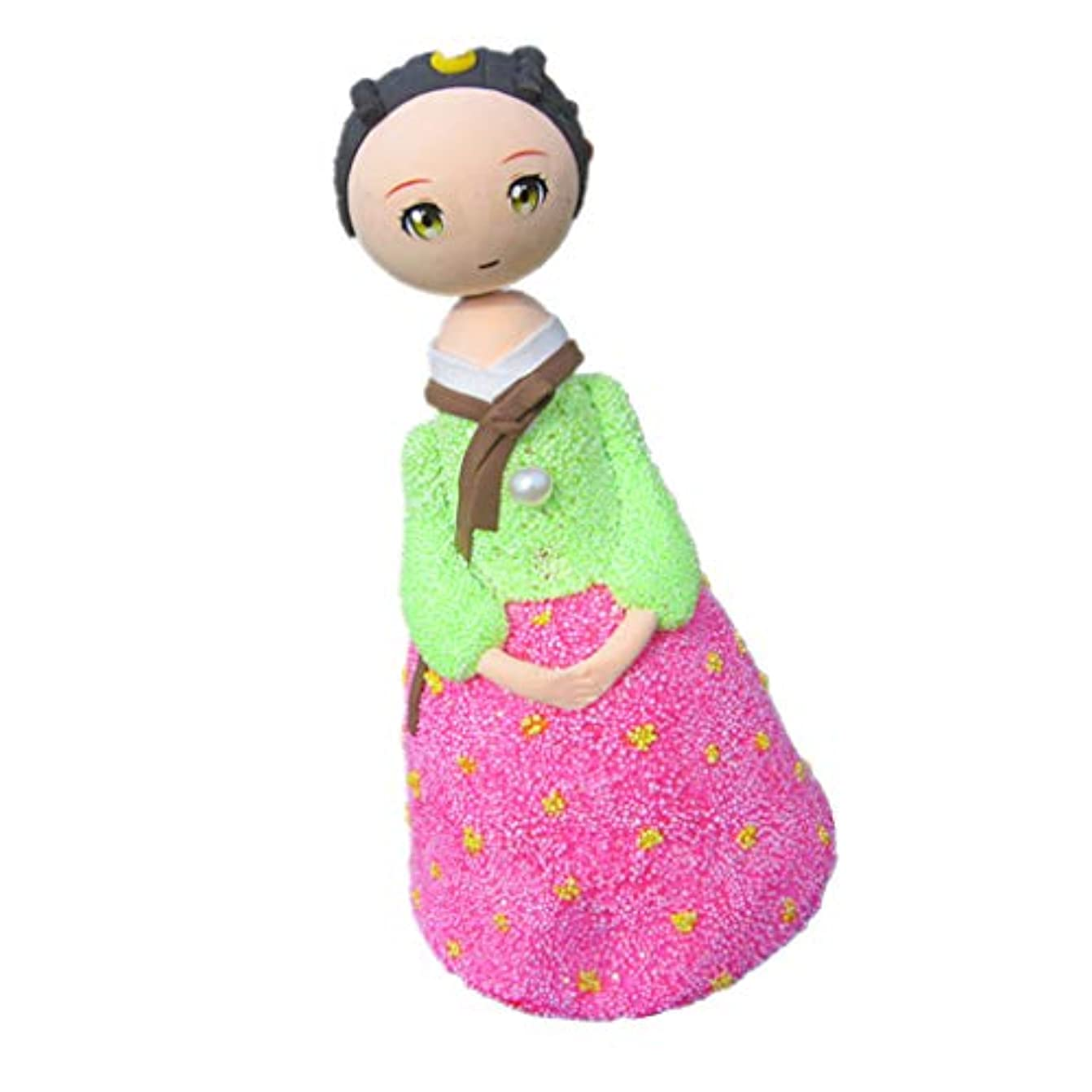 P Prettyia 子どもおもちゃ 手動 手作り 粘土人形 女の子人形 人形ドール 置き物 ねんど クレー 全3色 - #3
