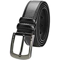 Men's Leather Belt Big & Tall Sizes up to 63Black & Brown Colors (56-63 Black)