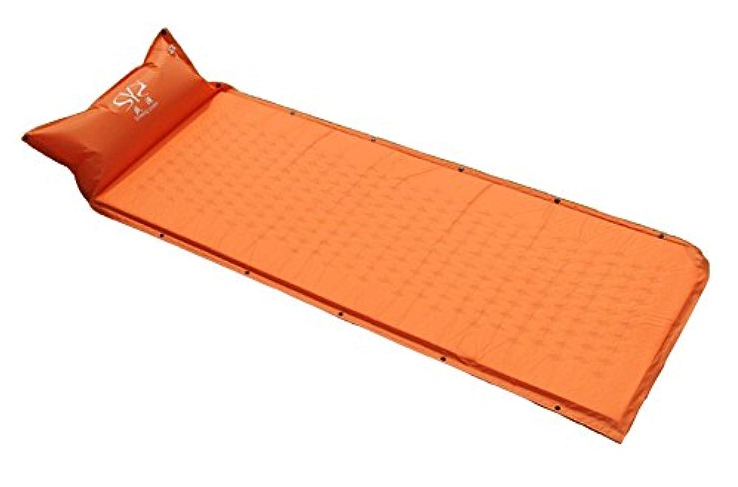 彼ら害人Sheng yuan テントマット エアマット 車中泊 キャンプ 190 * 65 * 3cm シングルサイズ コンパクト収納 自動膨張式 数枚連結可能 専用袋付き
