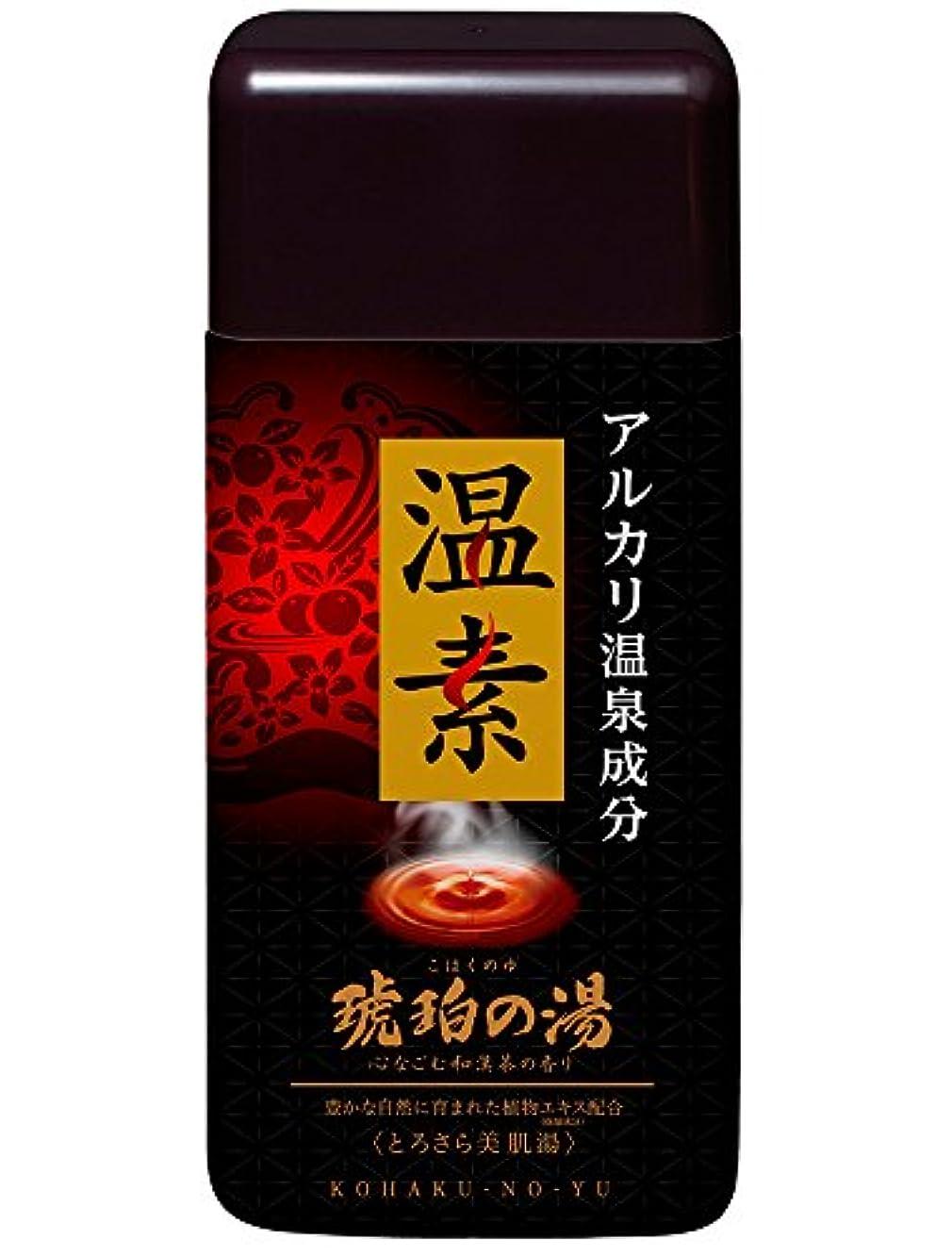 聖なる広告故意の【医薬部外品】温素 入浴剤 琥珀の湯 [600g]