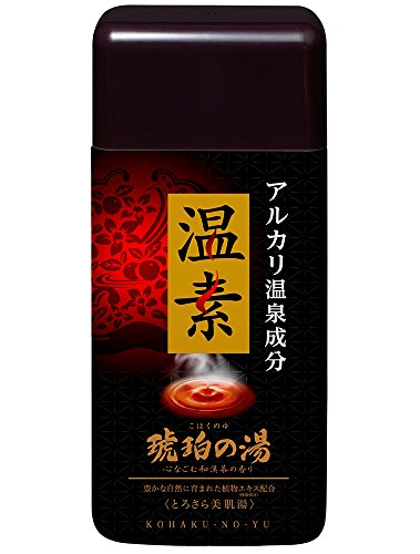 アース製薬 温素 入浴剤 琥珀の湯 600g [医薬部外品]