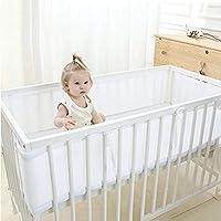 北欧 ベッドレール, 反衝突 通気性メッシュ ベッドガード 洗濯機 赤ちゃん 寝具-ホワイト
