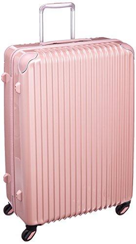 [カーゴ]スーツケース 84L  4.4kg  消音キャスター  クリアケース付き  アルファベットシール付き CAT733N メローピーチ